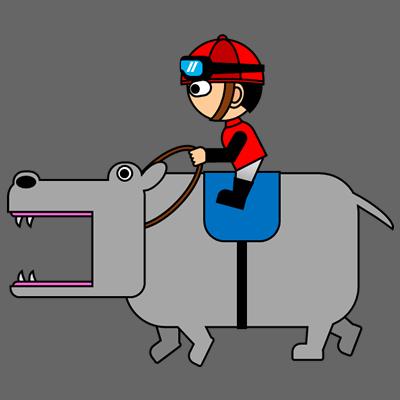 カバを走らせる騎手のアイコン(3)画像2