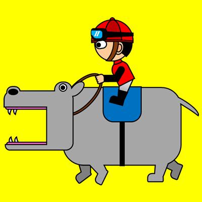 カバを走らせる騎手のアイコン(3)画像5