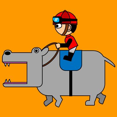 カバを走らせる騎手のアイコン(3)画像7