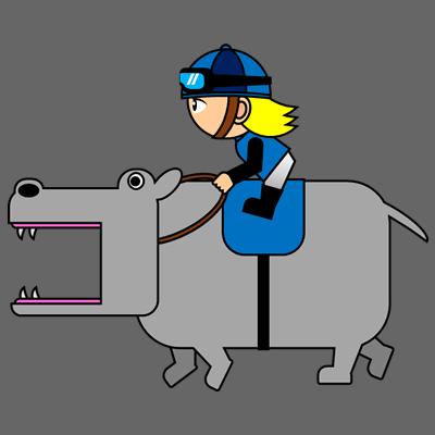 カバを走らせる騎手のアイコン(4)画像2