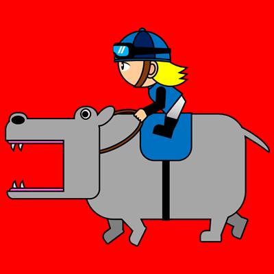 カバを走らせる騎手のアイコン(4)画像3