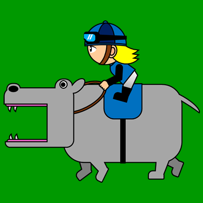 カバを走らせる騎手のアイコン(4)画像6