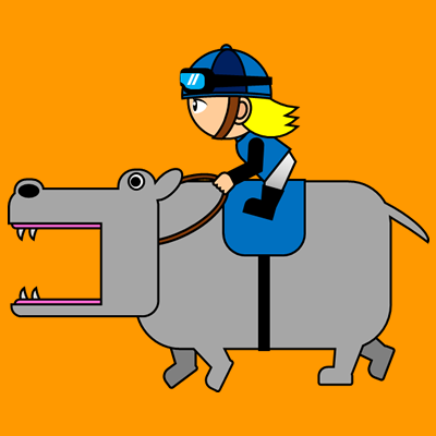 カバを走らせる騎手のアイコン(4)画像7