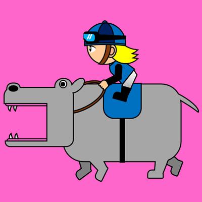 カバを走らせる騎手のアイコン(4)画像8