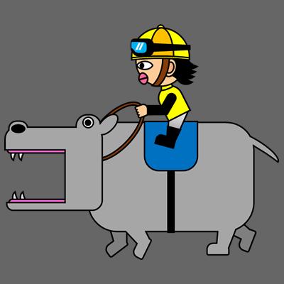 カバを走らせる騎手のアイコン(5)画像2