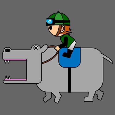 カバを走らせる騎手のアイコン(6)画像2