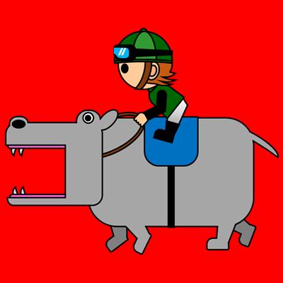 カバを走らせる騎手のアイコン(6)画像3