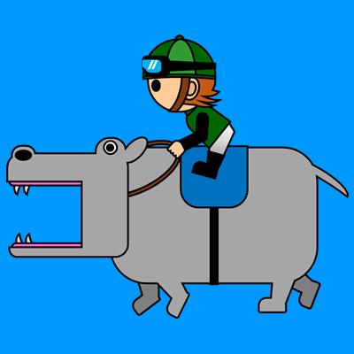 カバを走らせる騎手のアイコン(6)画像4