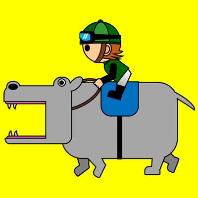 カバを走らせる騎手のアイコン(6)画像5