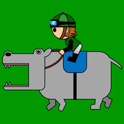 カバを走らせる騎手のアイコン(6)画像6