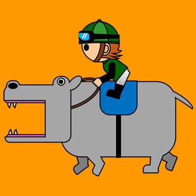 カバを走らせる騎手のアイコン(6)画像7