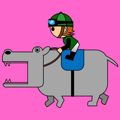 カバを走らせる騎手のアイコン(6)画像8