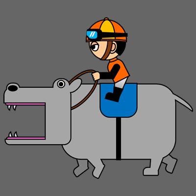 カバを走らせる騎手のアイコン(7)画像2