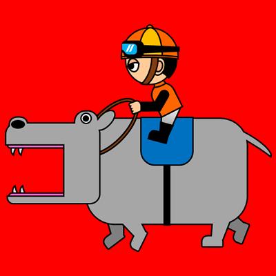 カバを走らせる騎手のアイコン(7)画像3