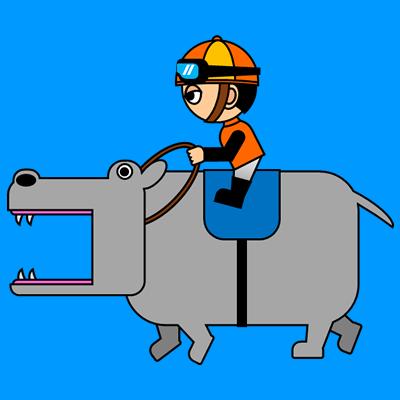 カバを走らせる騎手のアイコン(7)画像4