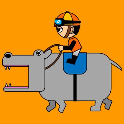 カバを走らせる騎手のアイコン(7)画像7