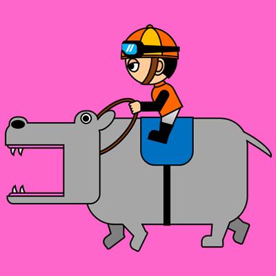 カバを走らせる騎手のアイコン(7)画像8