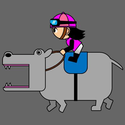 カバを走らせる騎手のアイコン(8)画像2