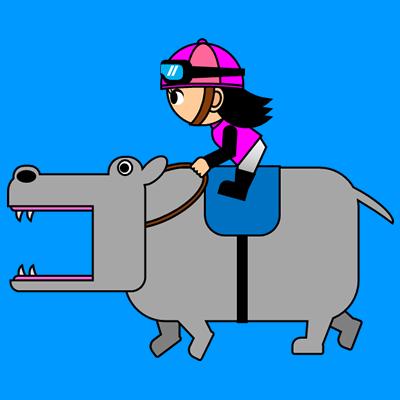 カバを走らせる騎手のアイコン(8)画像4