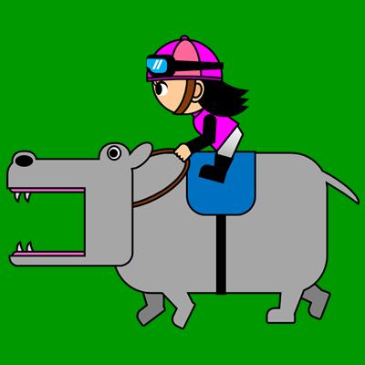 カバを走らせる騎手のアイコン(8)画像6