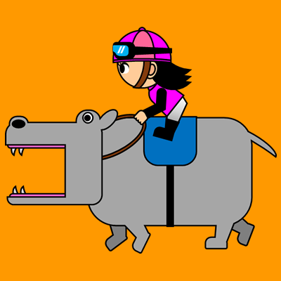 カバを走らせる騎手のアイコン(8)画像7