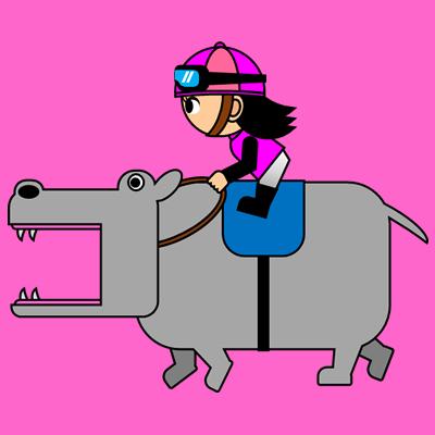 カバを走らせる騎手のアイコン(8)画像8