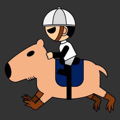 カピバラに乗る騎手のアイコン(1)画像2