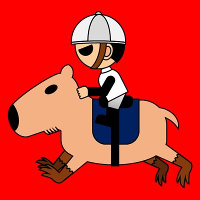 カピバラに乗る騎手のアイコン(1)画像3