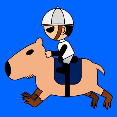 カピバラに乗る騎手のアイコン(1)画像4