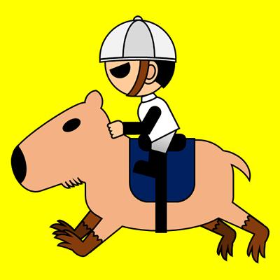 カピバラに乗る騎手のアイコン(1)画像5