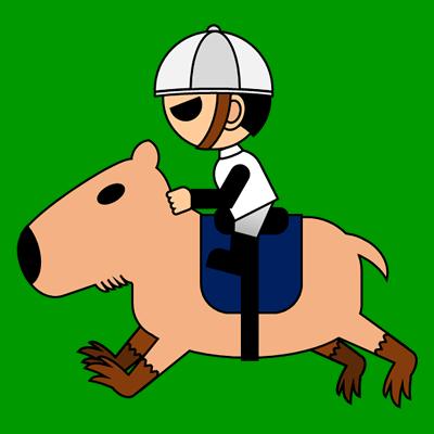 カピバラに乗る騎手のアイコン(1)画像6