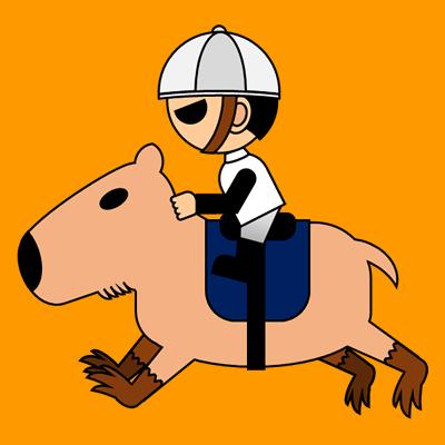 カピバラに乗る騎手のアイコン(1)画像7