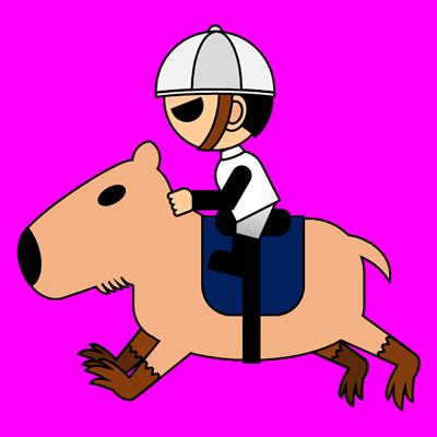カピバラに乗る騎手のアイコン(1)画像8