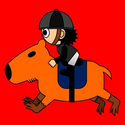 カピバラに乗る騎手のアイコン(2)画像3