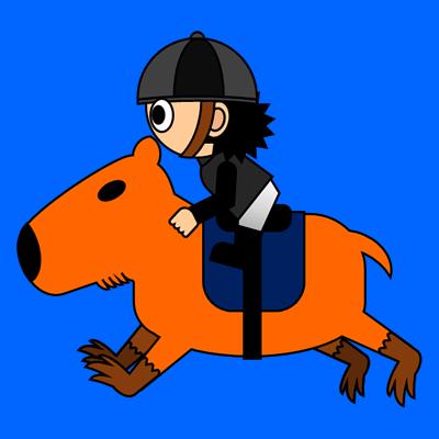 カピバラに乗る騎手のアイコン(2)画像4