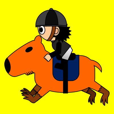 カピバラに乗る騎手のアイコン(2)画像5