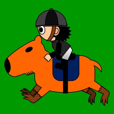 カピバラに乗る騎手のアイコン(2)画像6