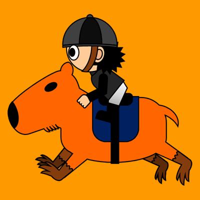 カピバラに乗る騎手のアイコン(2)画像7