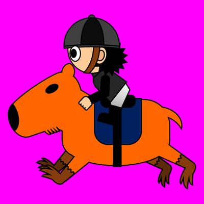 カピバラに乗る騎手のアイコン(2)画像8