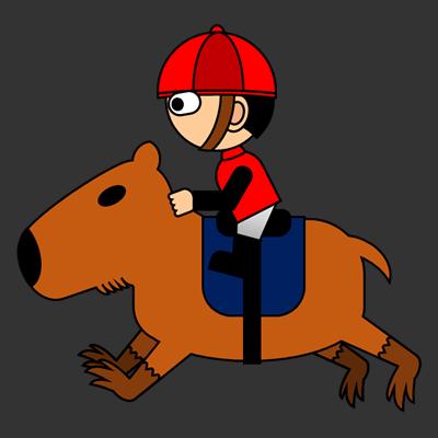 カピバラに乗る騎手のアイコン(3)画像2