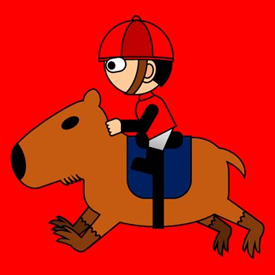 カピバラに乗る騎手のアイコン(3)画像3