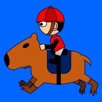 カピバラに乗る騎手のアイコン(3)画像4