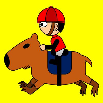 カピバラに乗る騎手のアイコン(3)画像5