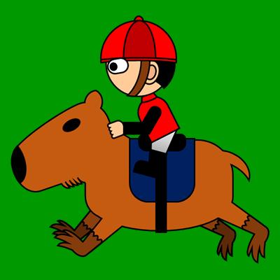 カピバラに乗る騎手のアイコン(3)画像6