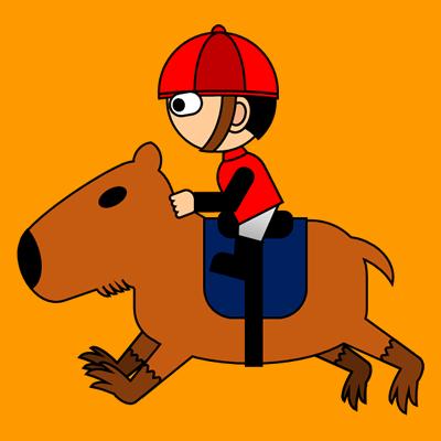 カピバラに乗る騎手のアイコン(3)画像7