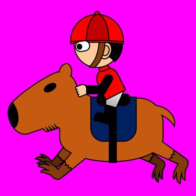 カピバラに乗る騎手のアイコン(3)画像8