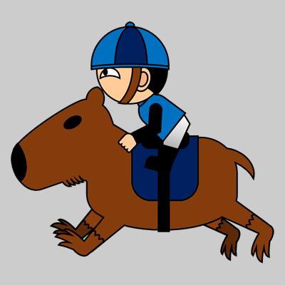 カピバラに乗る騎手のアイコン(4)画像