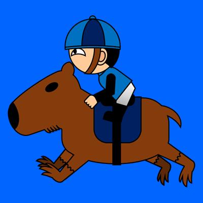 カピバラに乗る騎手のアイコン(4)画像4