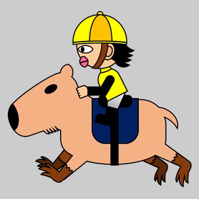 カピバラに乗る騎手のアイコン(5)画像