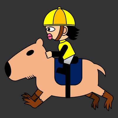 カピバラに乗る騎手のアイコン(5)画像2